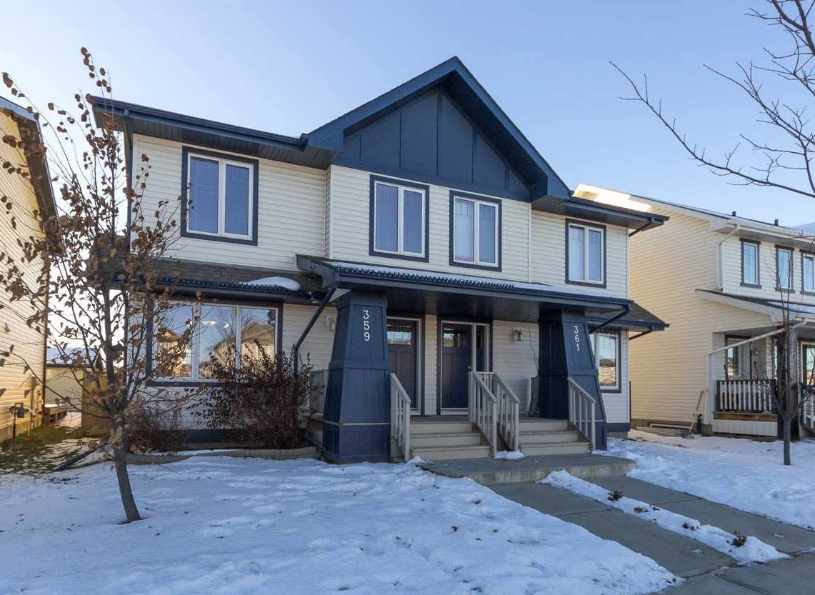 For Sale: 359 Secord Boulevard, Edmonton, AB | 3 Bed, 3 Bath Townhouse for $317,000. See 24 photos!