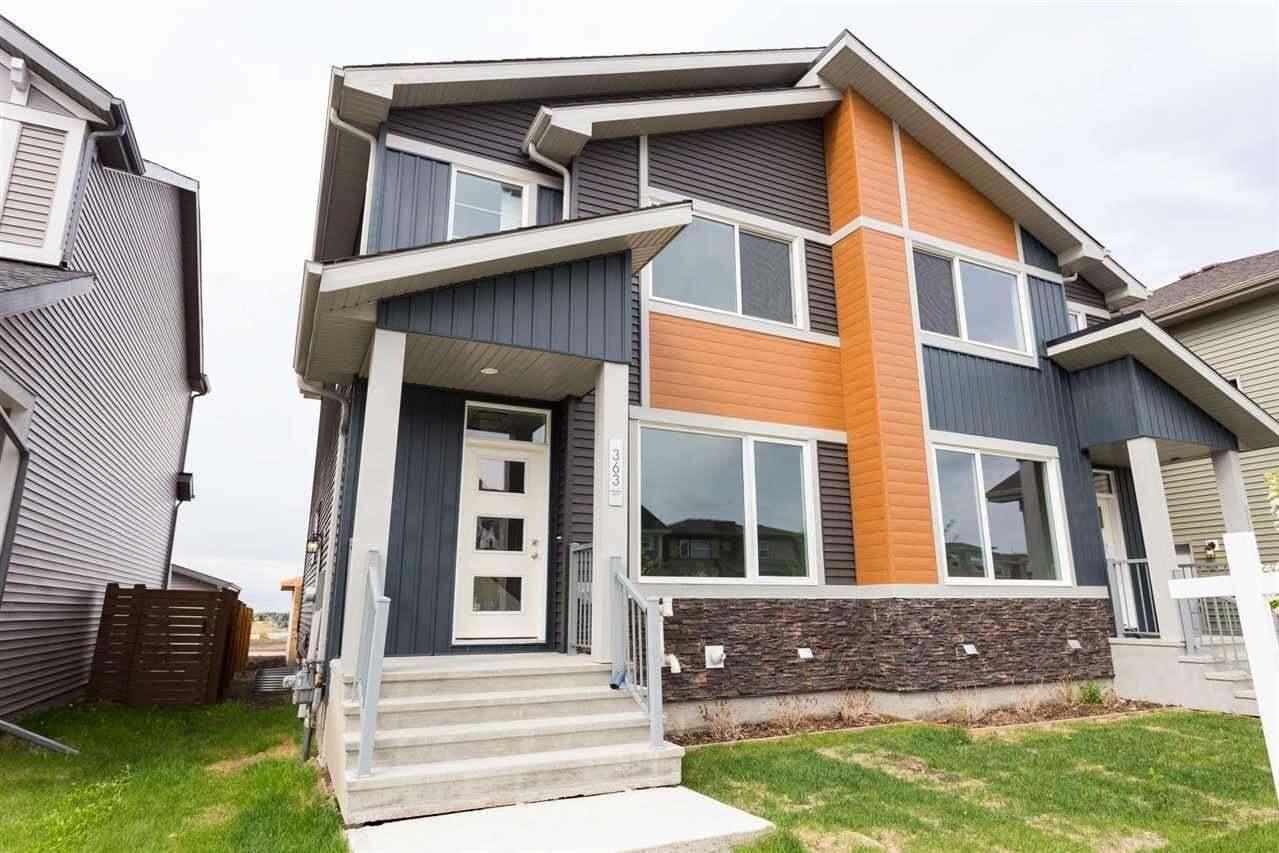 Townhouse for sale at 363 Charlesworth Dr SW Edmonton Alberta - MLS: E4196859