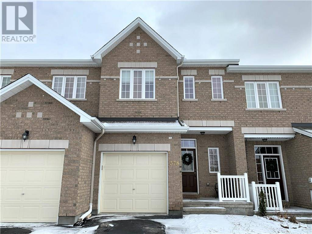 Townhouse for sale at 378 Kingbrook Dr Ottawa Ontario - MLS: 1173396