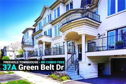 Townhouse for sale at 37 Green Belt Dr Toronto Ontario - MLS: C4429827