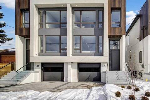 Townhouse for sale at 39 Wilmington Ave Toronto Ontario - MLS: C4694834