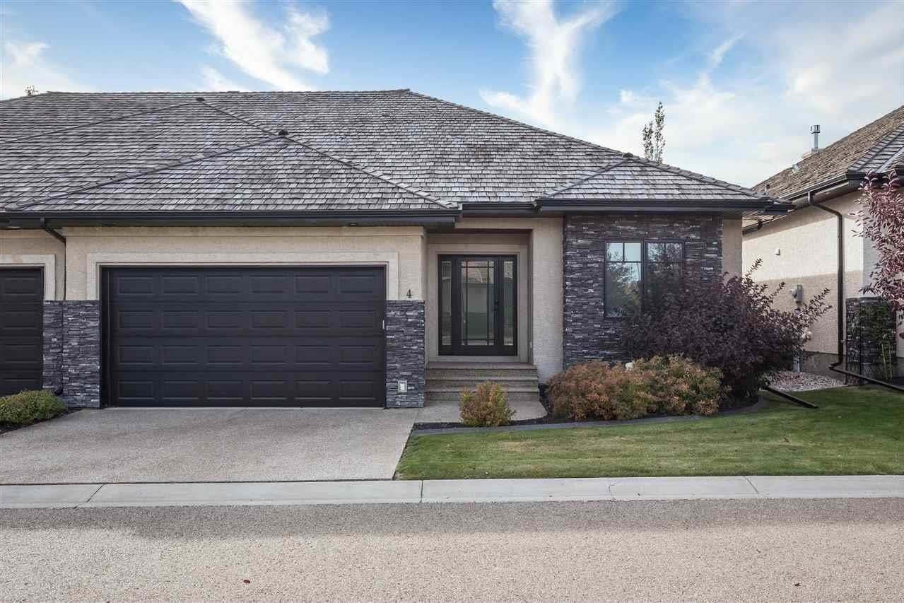 Townhouse for sale at 4058 Mactaggart Dr NW Unit 4 Edmonton Alberta - MLS: E4215615