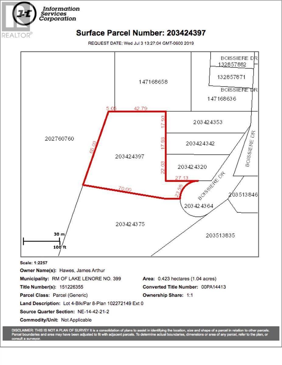 Home for sale at 8 Lot Block Dr Unit 4; St. Brieux Saskatchewan - MLS: SK778729