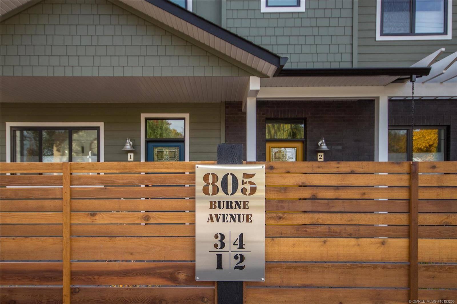 Townhouse for sale at 805 Burne Ave Unit 4 Kelowna British Columbia - MLS: 10193206