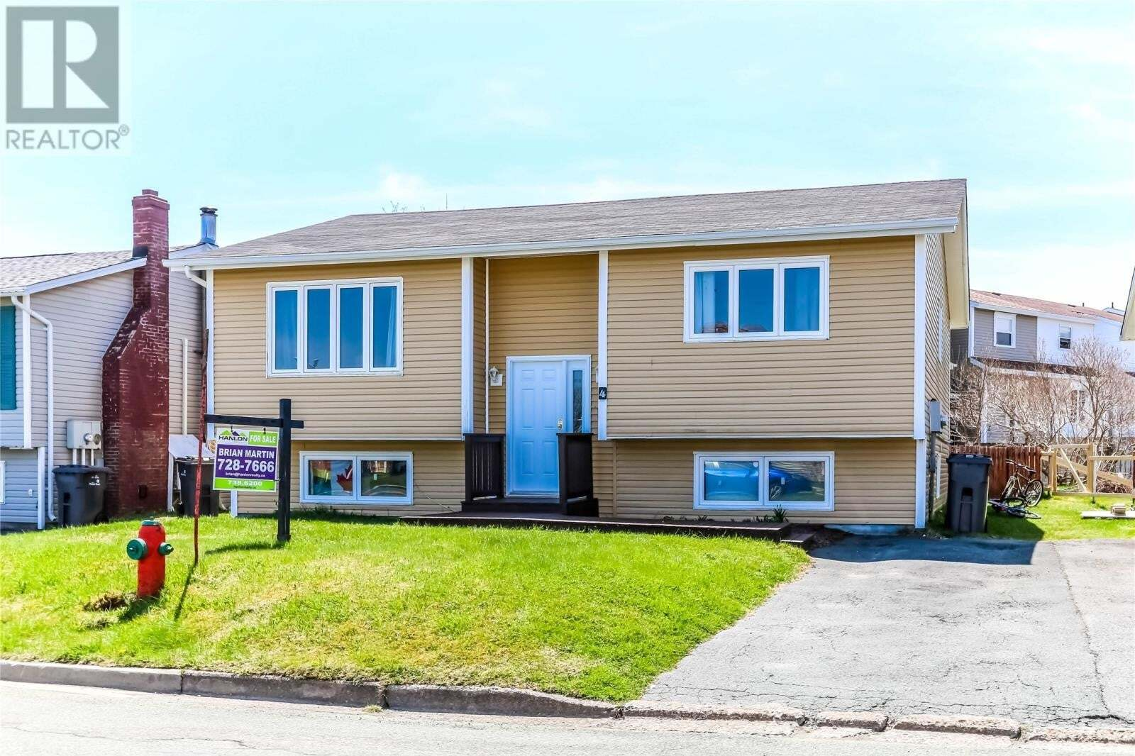House for sale at 4 Barbour Dr Mount Pearl Newfoundland - MLS: 1213345