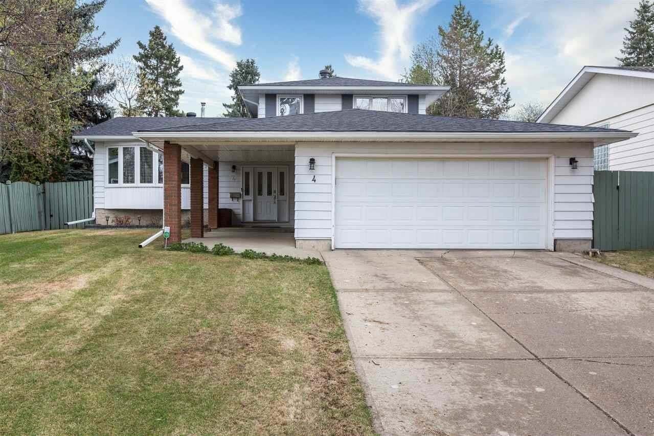 House for sale at 4 Graham Av St. Albert Alberta - MLS: E4196650