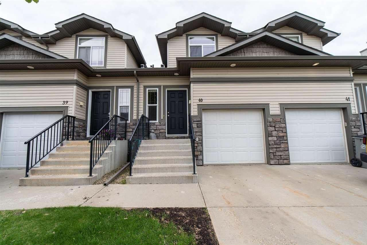 Townhouse for sale at 9511 102 Av Unit 40 Morinville Alberta - MLS: E4199802