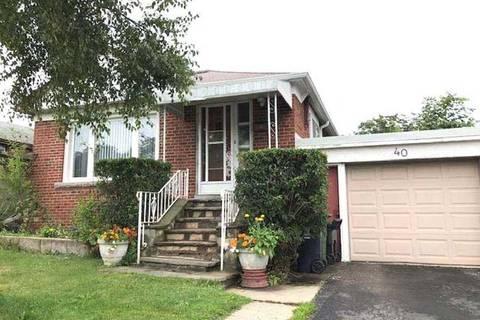House for sale at 40 Bimbrok Rd Toronto Ontario - MLS: E4550914