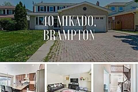 House for rent at 40 Mikado Cres Brampton Ontario - MLS: W4816386