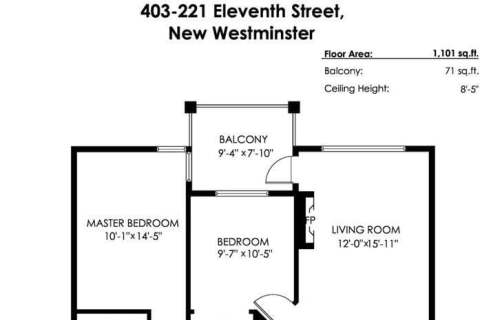 Condo for sale at 221 Eleventh St Unit 403 New Westminster British Columbia - MLS: R2459580