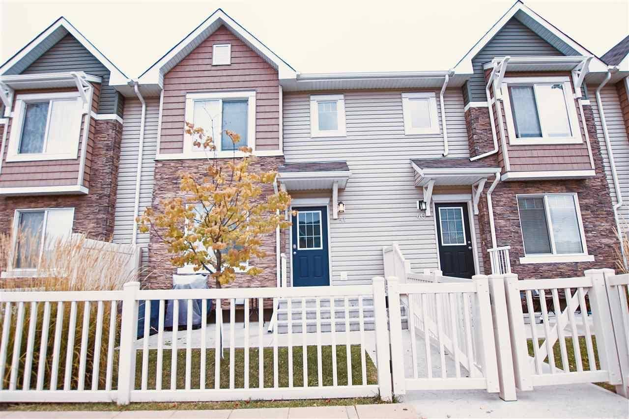 Townhouse for sale at 5317 3 Ave Sw Unit 41 Edmonton Alberta - MLS: E4175814