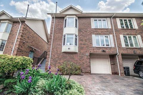 Townhouse for sale at 41 Protea Gdns Toronto Ontario - MLS: C4481696