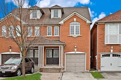 Townhouse for sale at 41 Sassafras Circ Vaughan Ontario - MLS: N4412570