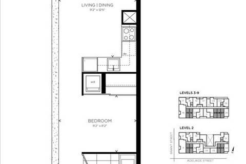 Apartment for rent at 39 Brant St Unit 412 Toronto Ontario - MLS: C4650654