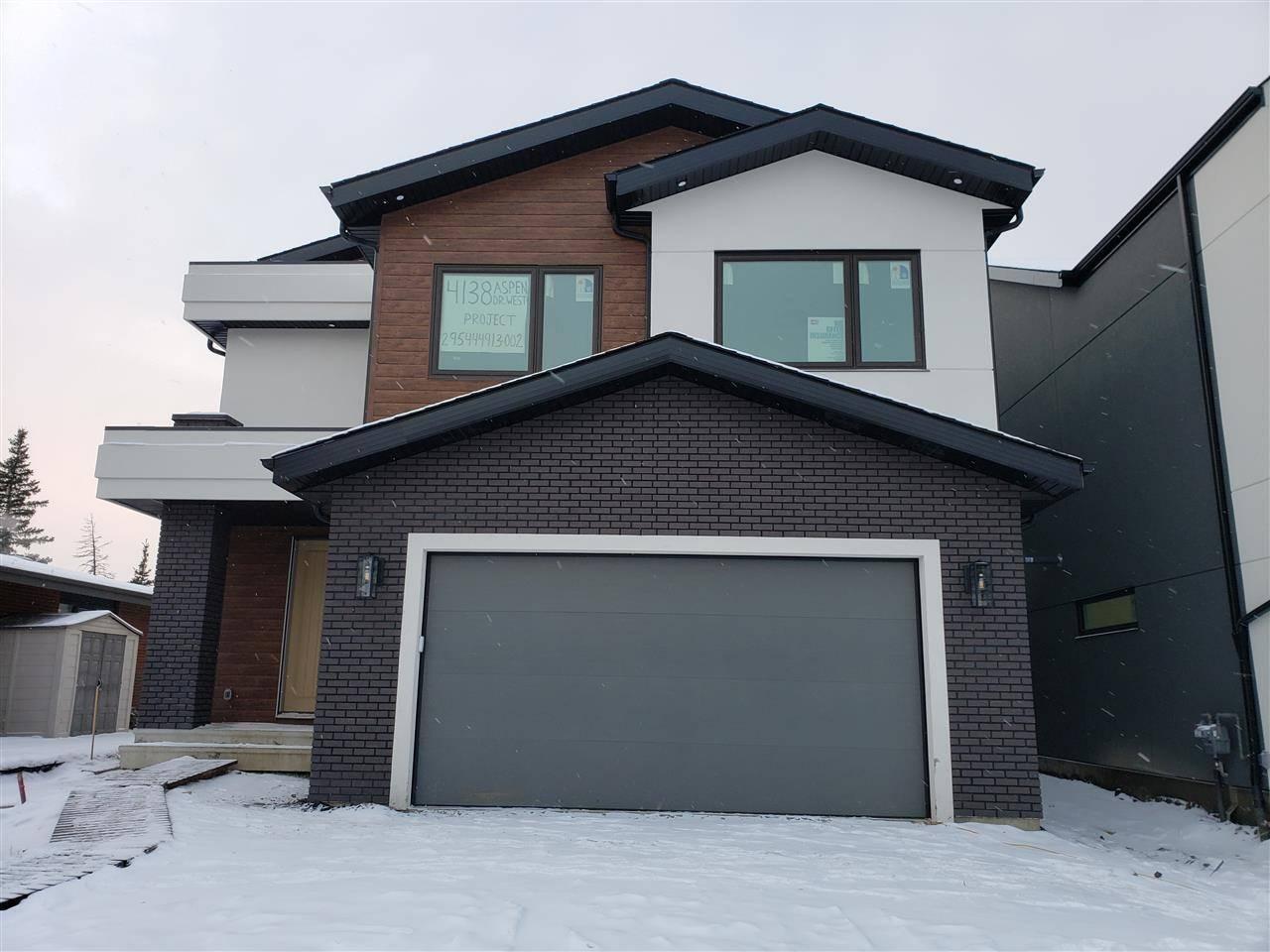 House for sale at 4138 Aspen Dr Nw Edmonton Alberta - MLS: E4184885