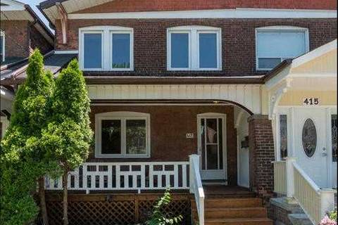 Townhouse for sale at 417 Strathmore Blvd Toronto Ontario - MLS: E4512809