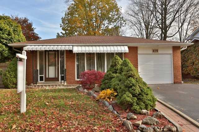 Sold: 419 Canterbury Crescent, Oakville, ON
