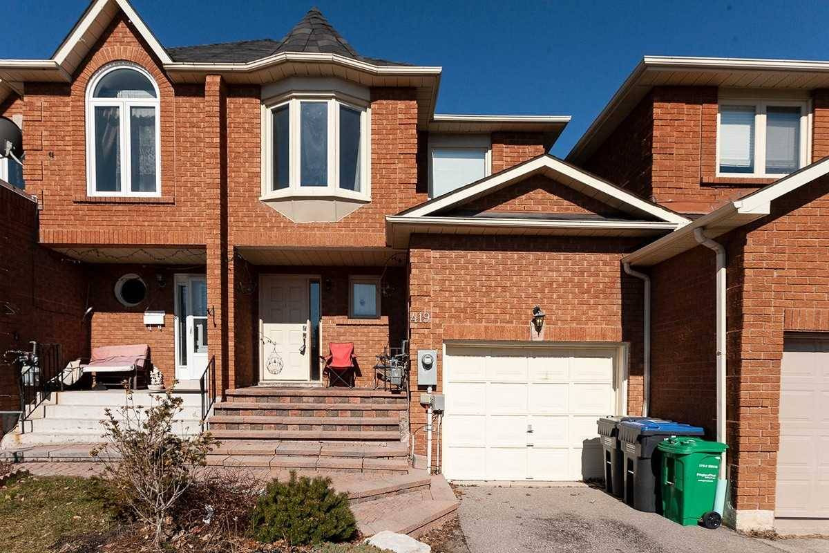 Townhouse for sale at 419 Wendron Cres Mississauga Ontario - MLS: W4504611