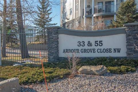 Condo for sale at 33 Arbour Grove Cs Northwest Unit 420 Calgary Alberta - MLS: C4262453
