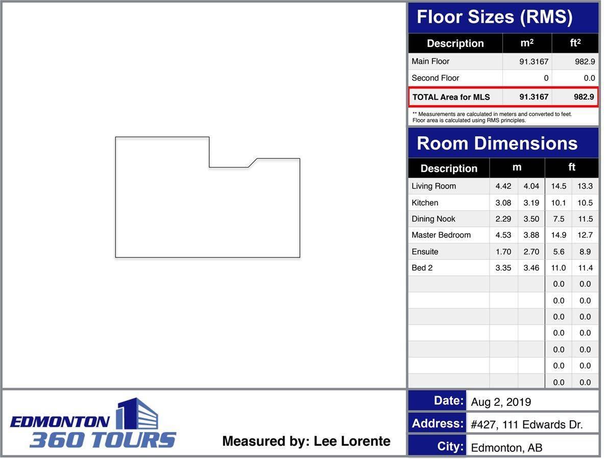 Condo for sale at 111 Edwards Dr Sw Unit 427 Edmonton Alberta - MLS: E4169524