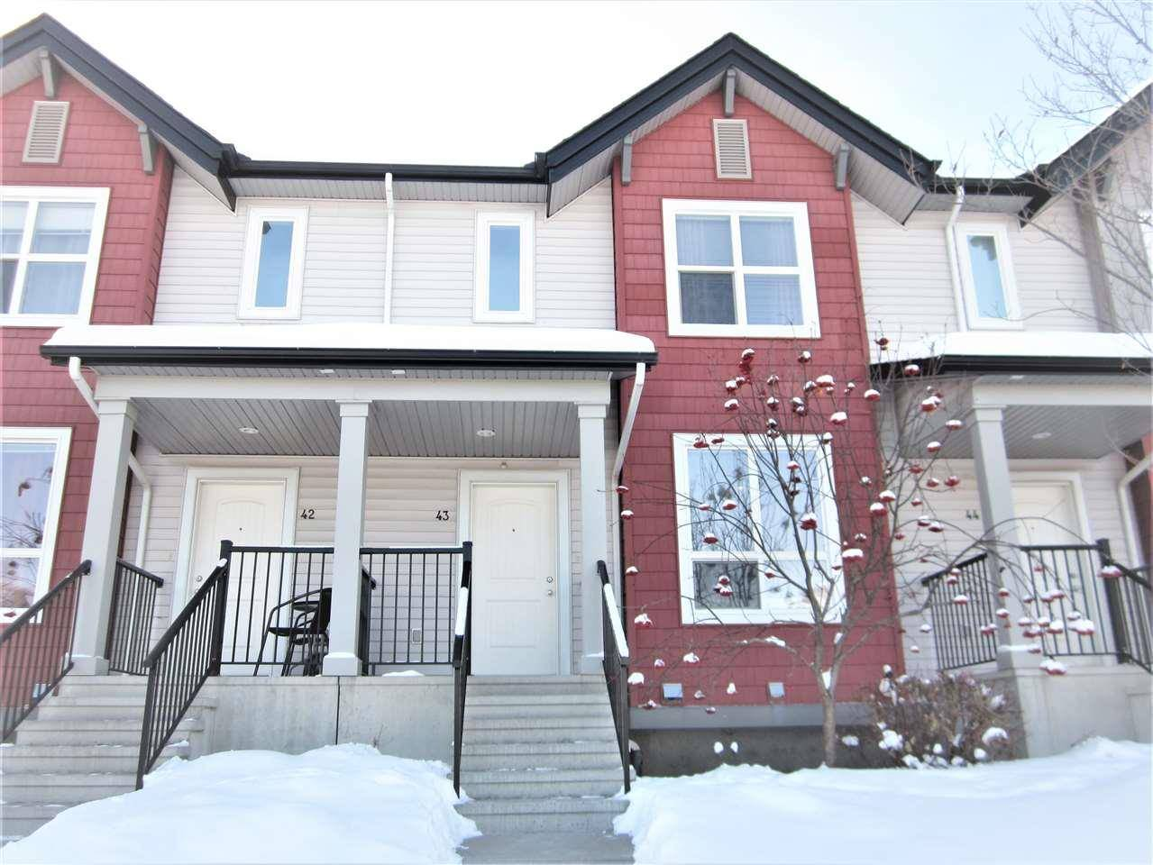 Townhouse for sale at 6075 Schonsee Wy Nw Unit 43 Edmonton Alberta - MLS: E4188275