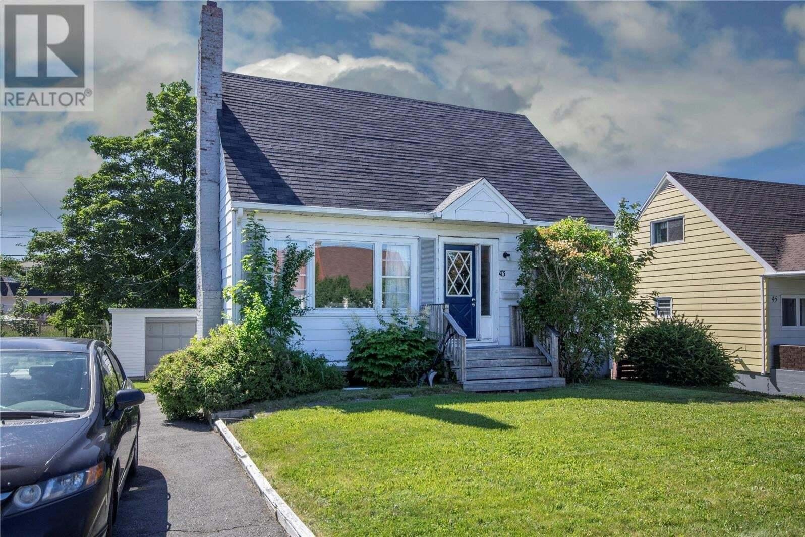 House for sale at 43 Graves St St. John's Newfoundland - MLS: 1217210