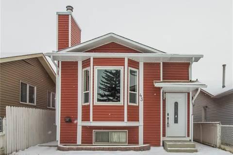 House for sale at 43 Martingrove Pl Northeast Calgary Alberta - MLS: C4278890