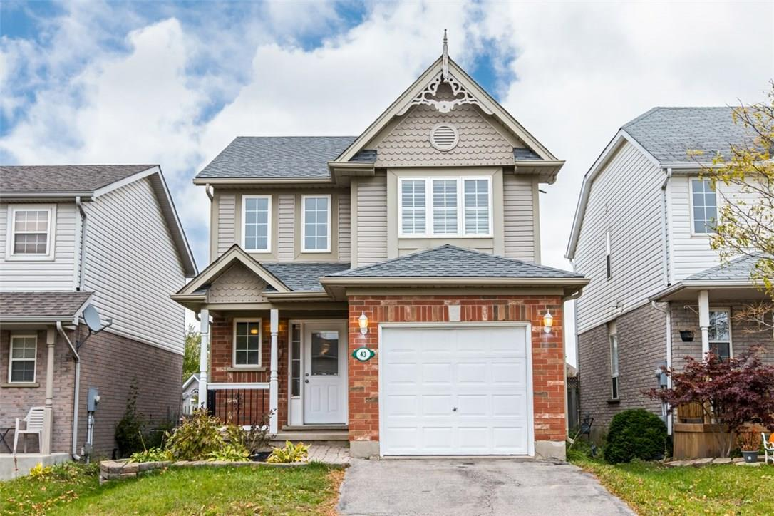 House for sale at 43 Mcmeeken Drive Cambridge Ontario - MLS: X4286522