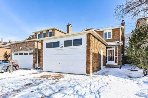 House for sale at 43 Pauline Ct Vaughan Ontario - MLS: N4692241