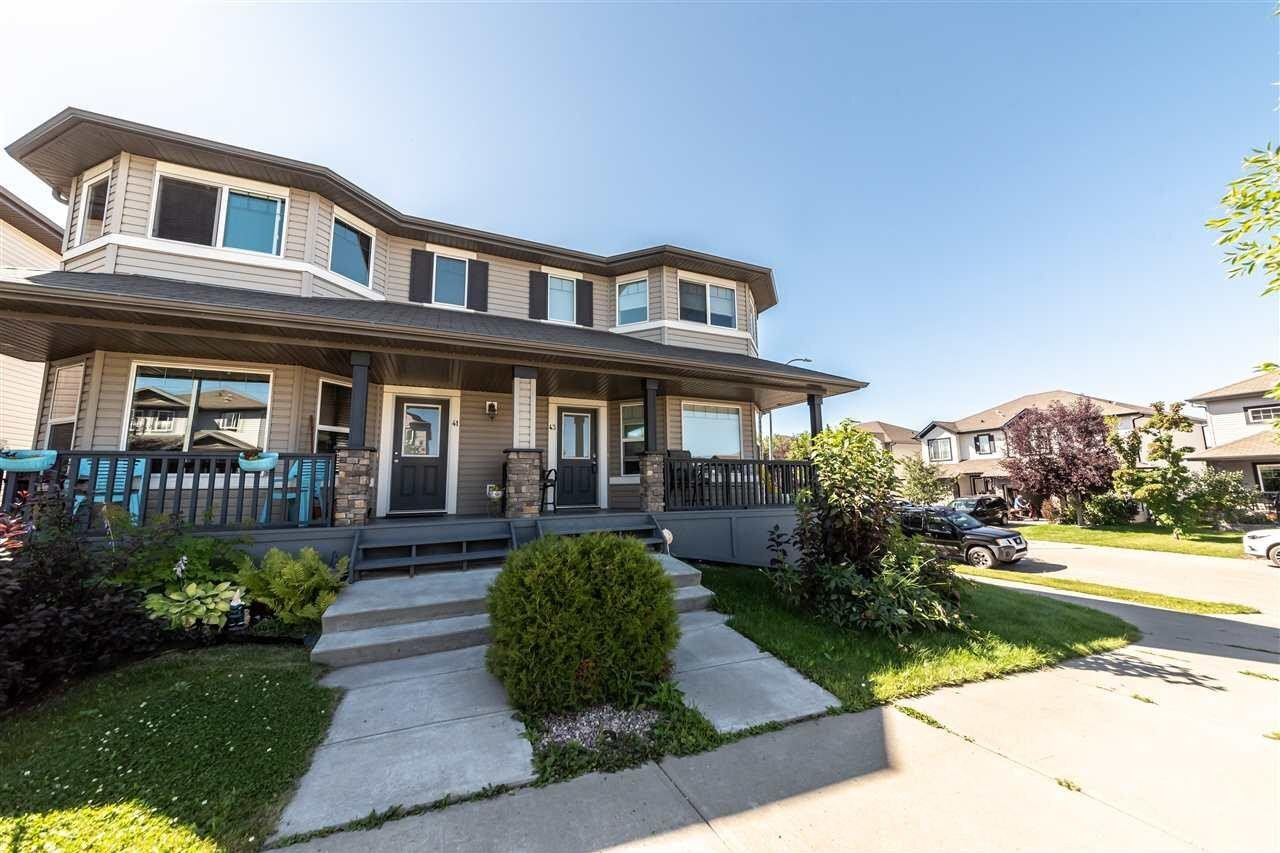 Townhouse for sale at 43 Veronica Hl Spruce Grove Alberta - MLS: E4223998