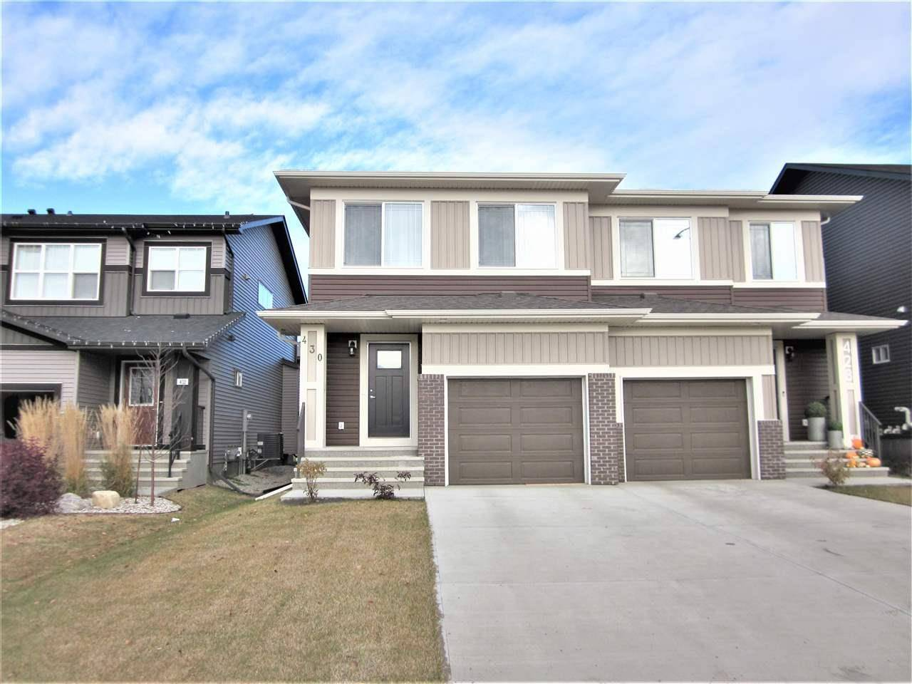Townhouse for sale at 430 Crystallina Nera Dr Nw Edmonton Alberta - MLS: E4178165