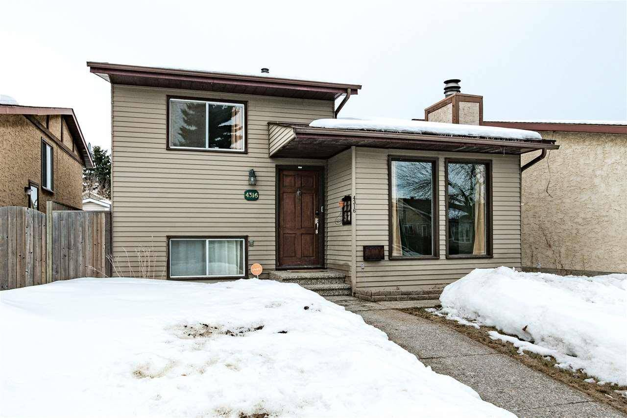 House for sale at 4316 38 St Nw Edmonton Alberta - MLS: E4192388