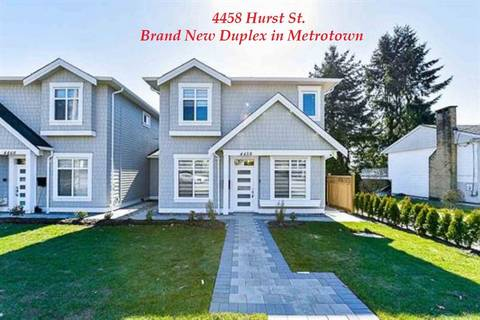 Townhouse for sale at 4458 Hurst St Burnaby British Columbia - MLS: R2398838