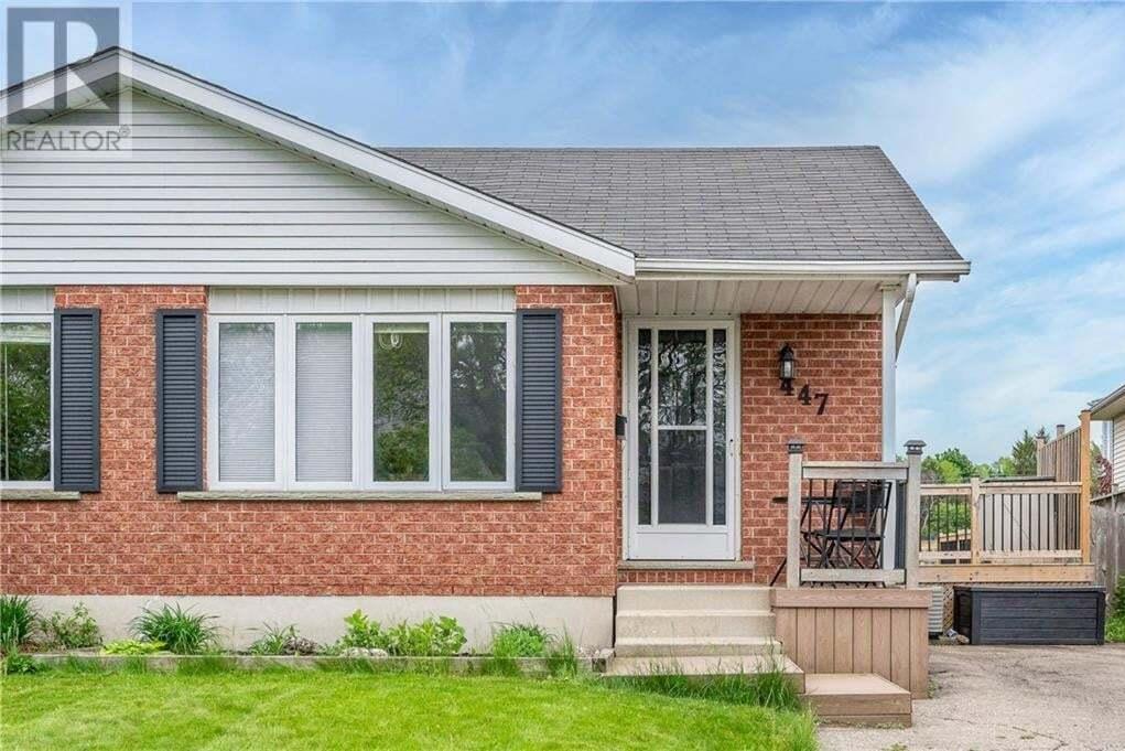 House for sale at 447 Bankside Cres Kitchener Ontario - MLS: 30810491