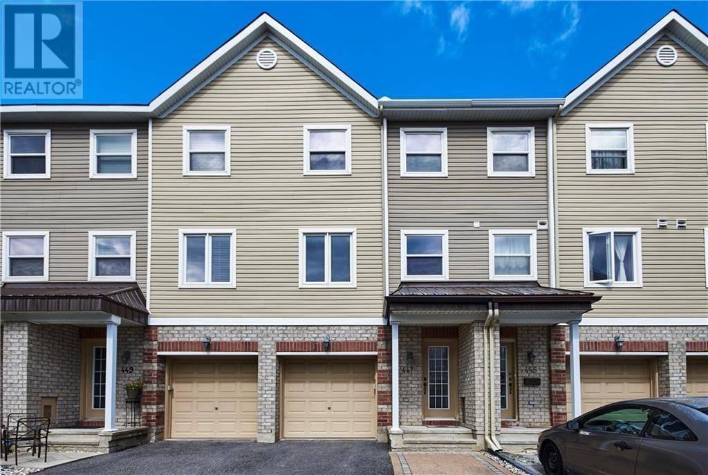 Townhouse for rent at 447 Sadar Pt Ottawa Ontario - MLS: 1174335