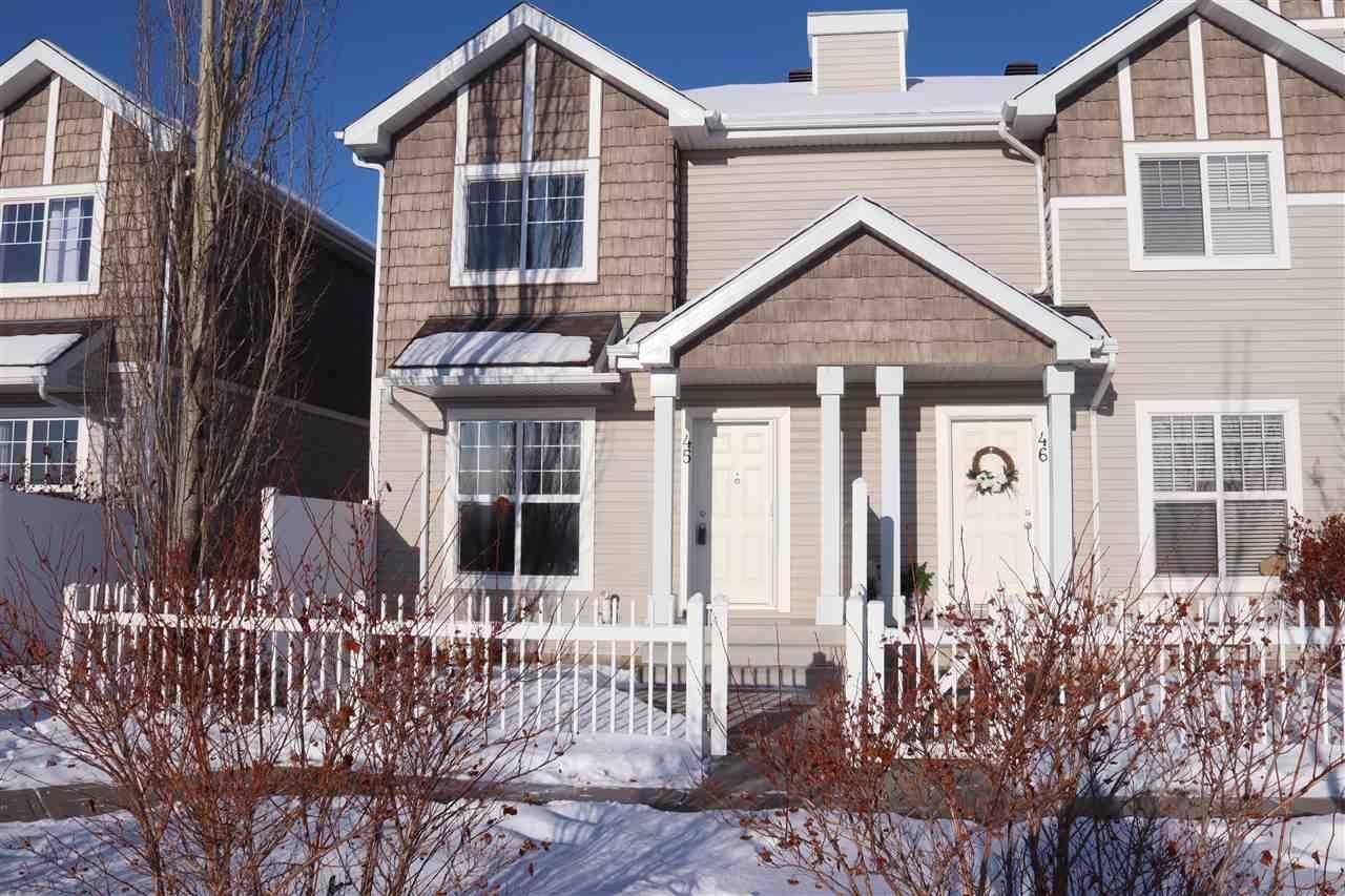 Townhouse for sale at 2051 Towne Centre Blvd Nw Unit 45 Edmonton Alberta - MLS: E4182533