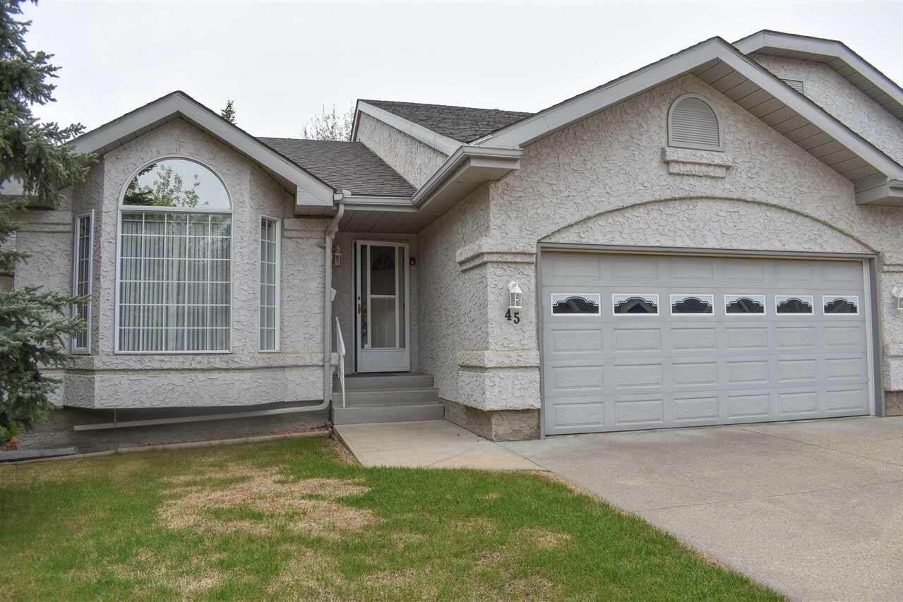 Townhouse for sale at 303 Twin Brooks Dr NW Unit 45 Edmonton Alberta - MLS: E4198835