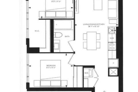 Apartment for rent at 181 Dundas St Unit 4611 Toronto Ontario - MLS: C4421881