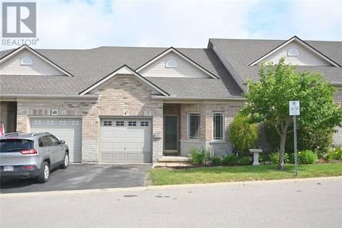 Townhouse for sale at 10 Cobblestone Dr South Unit 47 Paris Ontario - MLS: 30744182