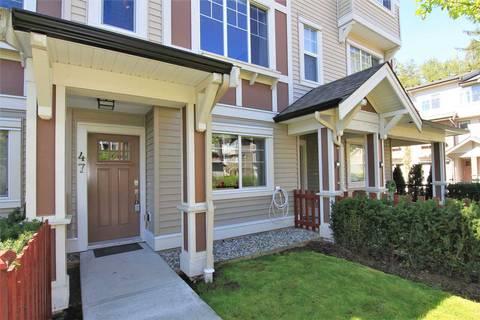 Townhouse for sale at 10151 240 St Unit 47 Maple Ridge British Columbia - MLS: R2381398