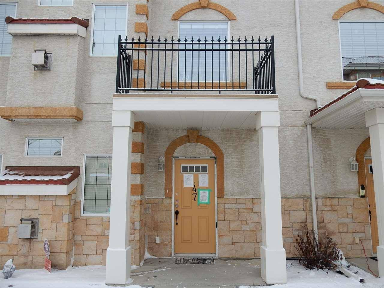 Townhouse for sale at 13825 155 Ave Nw Unit 47 Edmonton Alberta - MLS: E4185619