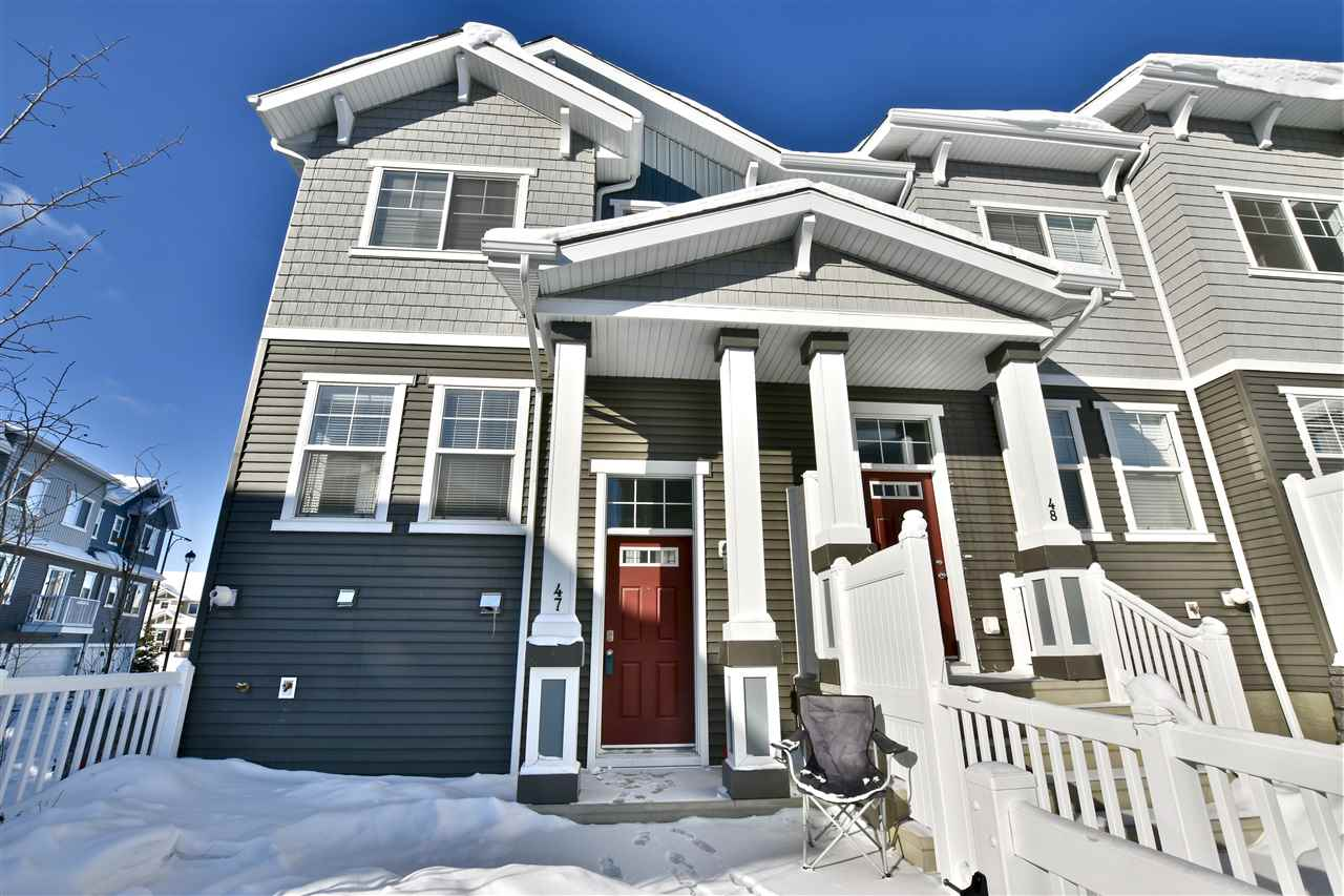 For Sale: 47 - 7385 Edgemont Way, Edmonton, AB | 3 Bed, 3 Bath Townhouse for $339,000. See 15 photos!