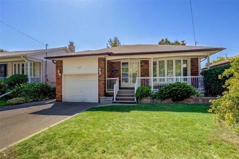 House for sale at 47 Bloorlea Cres Toronto Ontario - MLS: W4604684