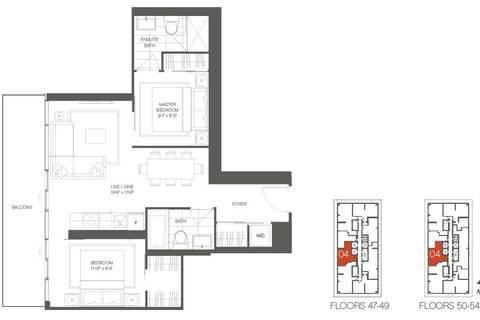 Apartment for rent at 50 Charles St Unit 4804 Toronto Ontario - MLS: C4735553
