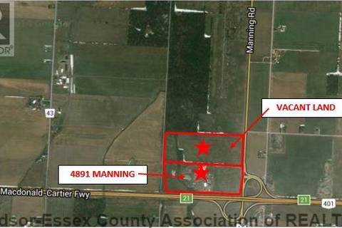 Commercial property for sale at 4891 Manning  Tecumseh Ontario - MLS: 1602448