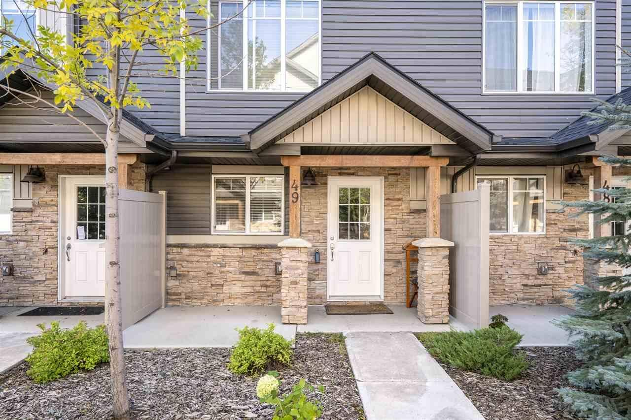 Townhouse for sale at 9515 160 Ave Nw Unit 49 Edmonton Alberta - MLS: E4174784