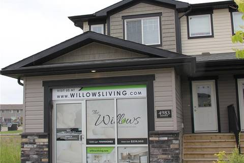 Townhouse for sale at 4987 Aspen Lakes Blvd Blackfalds Alberta - MLS: ca0171927