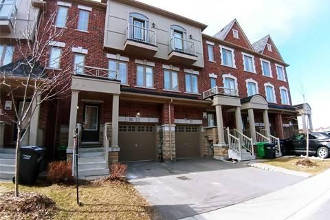 Townhouse for sale at 50 Kayak Hts Brampton Ontario - MLS: W4729086