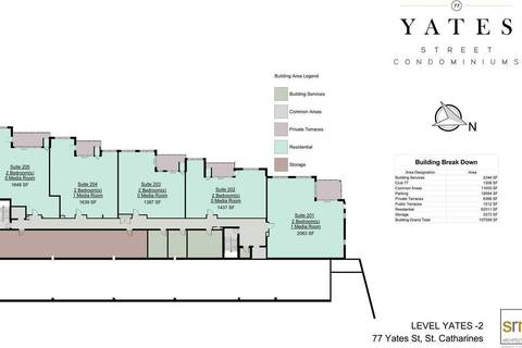 Condo for sale at 77 Yates St Unit 509 St. Catharines Ontario - MLS: X4421345