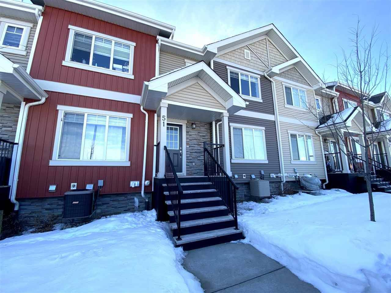 Townhouse for sale at 675 Albany Wy Nw Unit 51 Edmonton Alberta - MLS: E4185384